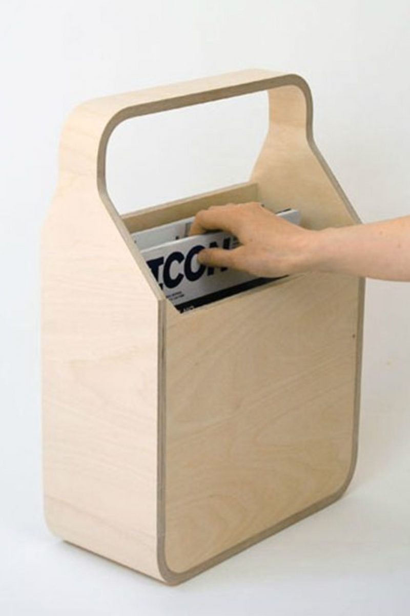 Plywood Organizer for Magasines